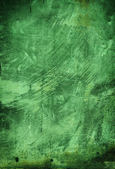 painted green backdrop