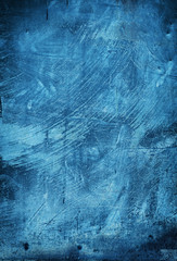 painted blue backdrop