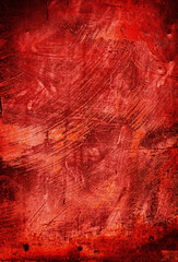 painted red backdrop