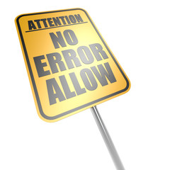 No error allow road sign