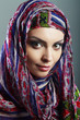 woman wearing head scarf