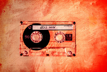 grungy orange 80s mix
