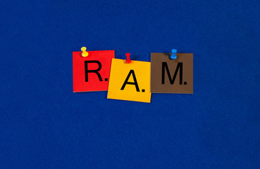 RAM, random access memory, sign series for computer terms