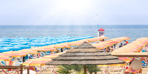 Rimini Beach Italy - Panoramic summer overview