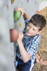 Spass beim Bouldern