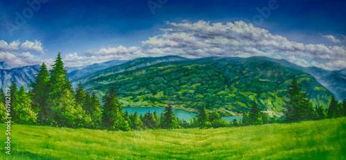 Landschaft Gemälde Ölgemälde Kunstdruck artprint © artefacti