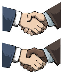 Partnership. Handshake business people