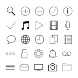 Thin line icons for Web