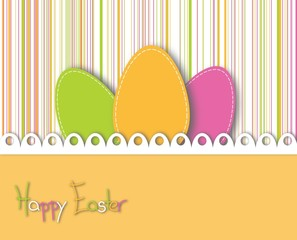 happy easter card - illustration