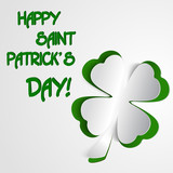 Shamrock, clover design, for St. Patrick's Day