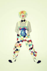 Hüpfender Clown