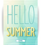 Summer design poster on abstract background. Vector eps10