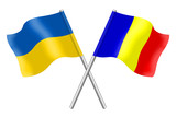 Flags: Ukraine and Romania
