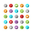 MULTICOLOURED VECTOR BUTTON SET (website internet web icons)