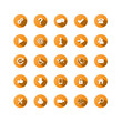 ORANGE VECTOR BUTTON SET (website internet web icons symbols)