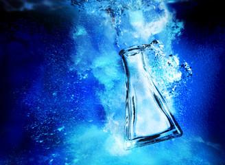 flask underwater