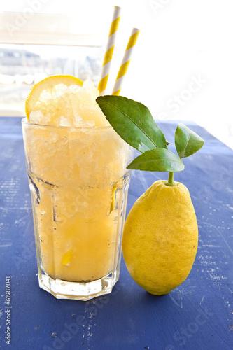 canvas print picture Hausgemachte Granita von frischen Zitronen