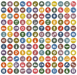 144 icons retro color
