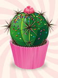 Cupcake cactus chantilly