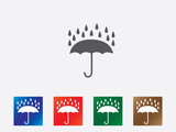 Umbrella icons illustration