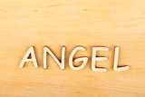 "Wooden letters ""angel"""