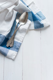 cutlery and linen napkin