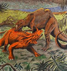 lotta tra dinosauri