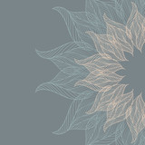 Abstract background with lacy flower