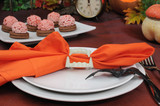 The idea of ​​a table setting for Halloween