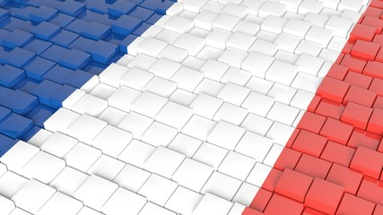 3D abstract background with flag of France
