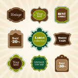 Green vintage labels