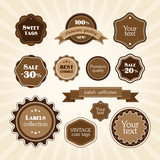 Brown vintage labels