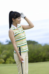 Japanese female golfer