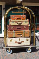 Bellman's luggage cart