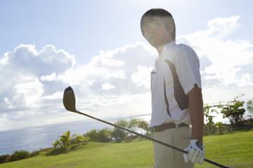 Japanese male golfer