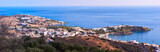 Panoramic view of Agia Pelagia in Crete, Greece.
