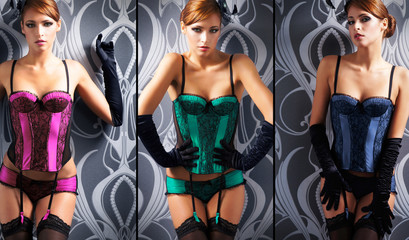 Beautiful women in erotic lingerie (glamour collection)