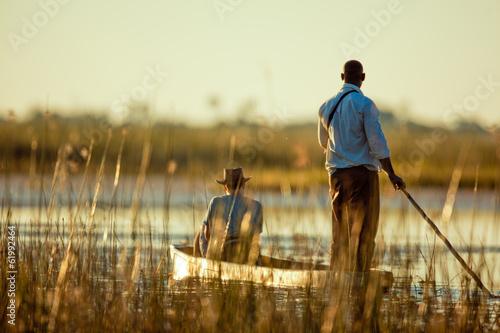 Staande foto Afrika Mokoro Safari