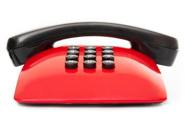 telefono vintage anni 70 rosso e nero
