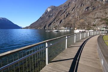 lungolago a Porlezza - Lago di Lugano