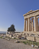 Parthenon ancient temple, acropolis of Athens, Greece
