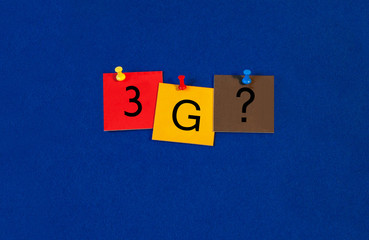 3G, sign series for mobiles, phones and the internet.