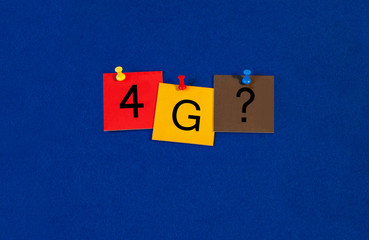 4G, sign series for mobiles, phones and the internet.