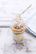 Yogurt with Acacia Honey, Rye Flakes and Sesame Seeds