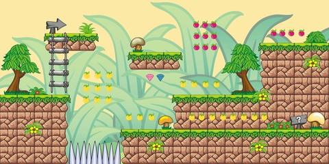 2D Tileset Platform Game 8