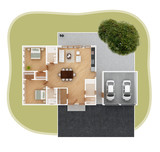 House plan top view