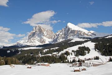 Langkofel, Plattkofel, Seiser Alm, Dolomiten, Südtirol, Italien