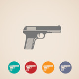 set of gun icons
