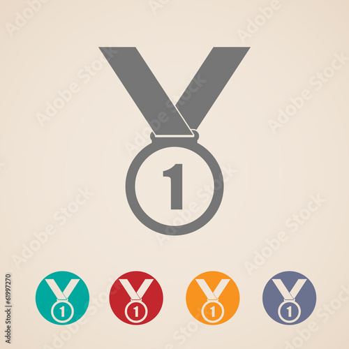 set of medal icons
