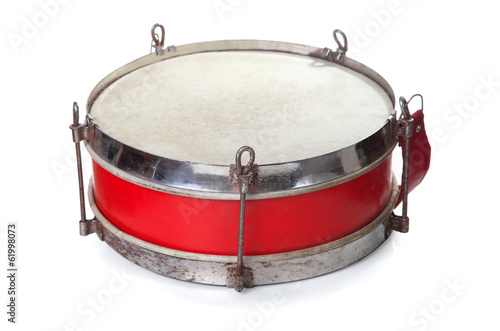 pioneer drum isolated on white background
